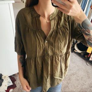 J. CREW • silk blend blouse